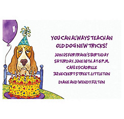 Dog Years Birthday Custom Invitation