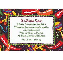Chilis and Maracas Custom Invitation