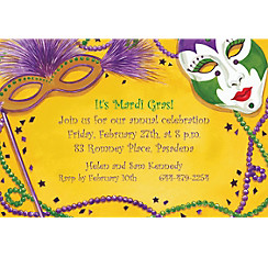Masks Custom Mardi Gras Invitations