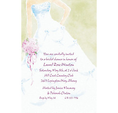 Soft Fashion Gown Custom Wedding Invitation