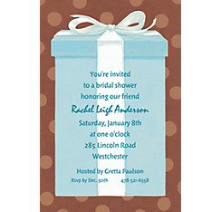 The Special Gift Box Custom Bridal Shower Invitation