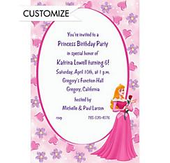 Aurora on Hearts & Flowers Custom Invitation