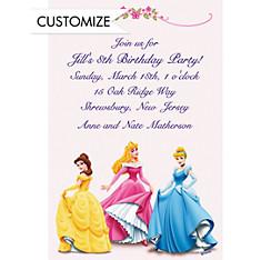 Three Posing Princesses Custom Invitation