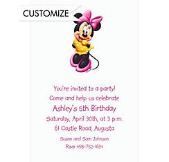 Minnie Mouse Custom Invitation
