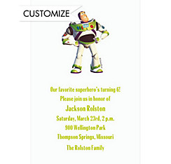 Custom Buzz Lightyear Invitations