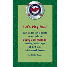 Minnesota Twins Custom Invitation