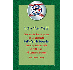 Toronto Blue Jays Custom Invitation
