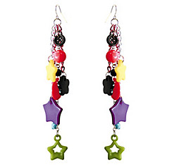 Multi Color Dangle Earrings