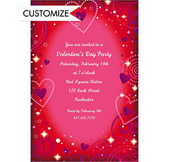 Custom Love Crazy Valentine's Day Invitations