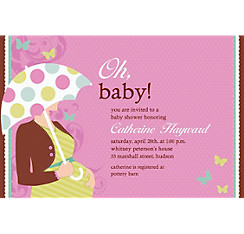 Great Expectations Custom Baby Shower Invitation