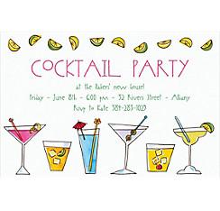 Mixed Drinks Custom Invitation