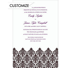 Custom Unbridled Filigree Black Invitations