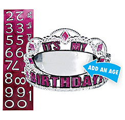 Personalized Pink Birthday Tiara Kit