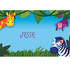 Jungle Animal Custom Thank You Notes