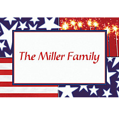 Star Spangled Banner Custom Thank You Note