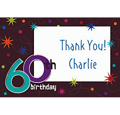 The Party Continues 60th Birthday Custom Thank You Note