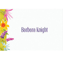Beautiful Blooms Custom Thank You Note
