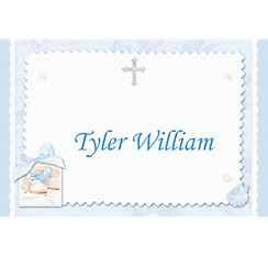 Tiny Blessing Blue Custom Thank You Note