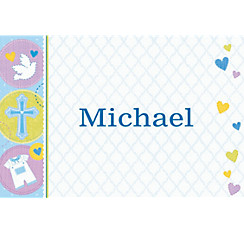 Custom Blue Sweet Religious Thank You Note