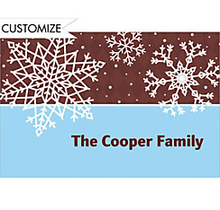 Simple Snowflake Brown Custom Christmas Thank You Note
