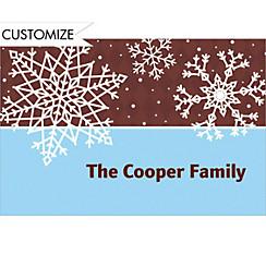 Simple Snowflake Brown Custom Christmas Thank You Note