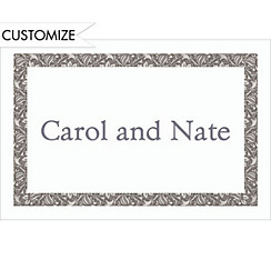 Gray Vine Border Custom Thank You Note