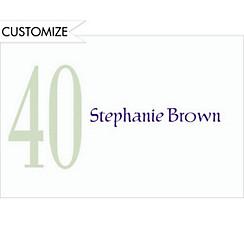 Big 40 Custom Thank You Note