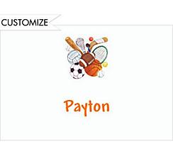 Play Ball Custom Thank You Note