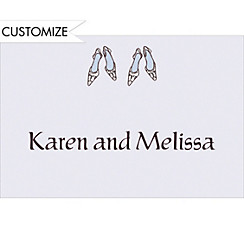 Bride and Bride Shoes Custom Wedding Thank You Note