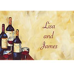 Painterly Wine Tasting Custom Thank You Note