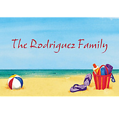 Day at the Beach Custom Thank You Notes