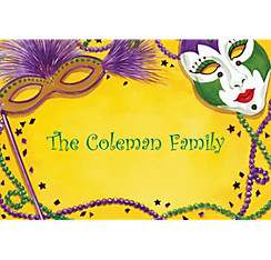 Mardi Gras Masks Custom Thank You Note