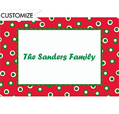 Retro Holiday Dots Custom Christmas Thank You Note