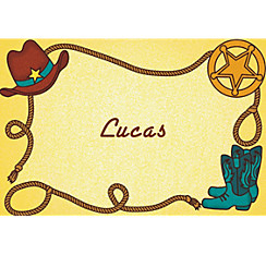 Little Cowboy Motif Custom Thank You Note
