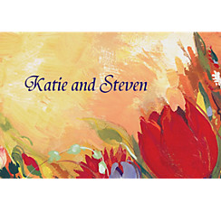 Bouquet in Oil Custom Thank You Note
