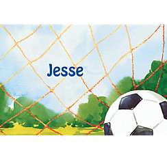 Soccer Net Custom Thank You Note