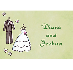 Bride & Groom Outfits Custom Bridal Shower Thank You Note