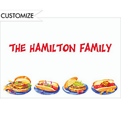 Hamburgers & Hotdogs Custom Thank You Note