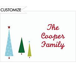 Tiny Christmas Trees Custom Thank You Note