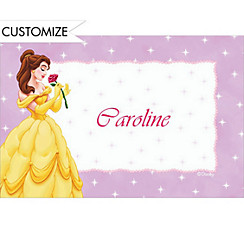 Belle on Mini Stars Custom Thank You Note