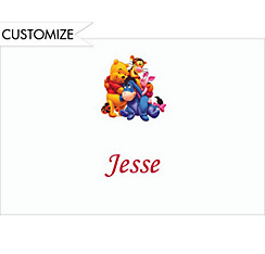 Pooh and Friends Custom Thank You Note