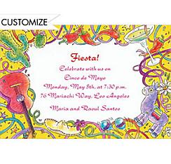 Mexican Fiesta Custom Invitation