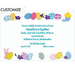 Easter Egg Border Custom Invitation