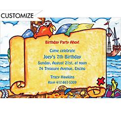 Pirate Map Custom Invitation