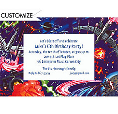 Space Battle Custom Invitation