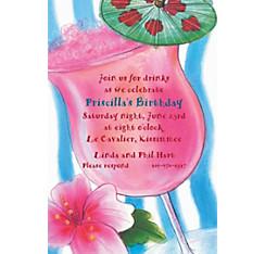 Tropical Drink Custom Invitation