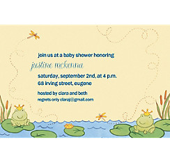 Happy Frogs Custom Baby Shower Invitation
