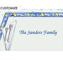 Spring Table Setting Custom Thank You Note