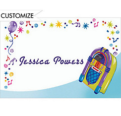 Jukebox Party Custom Thank You Note