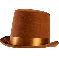 Brown Bell Topper Hat